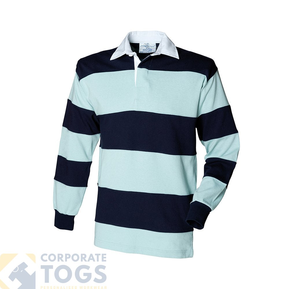 a12ba41356d FRONT ROW FR08M SEWN STRIPE LONG SLEEVE RUGBY SHIRT