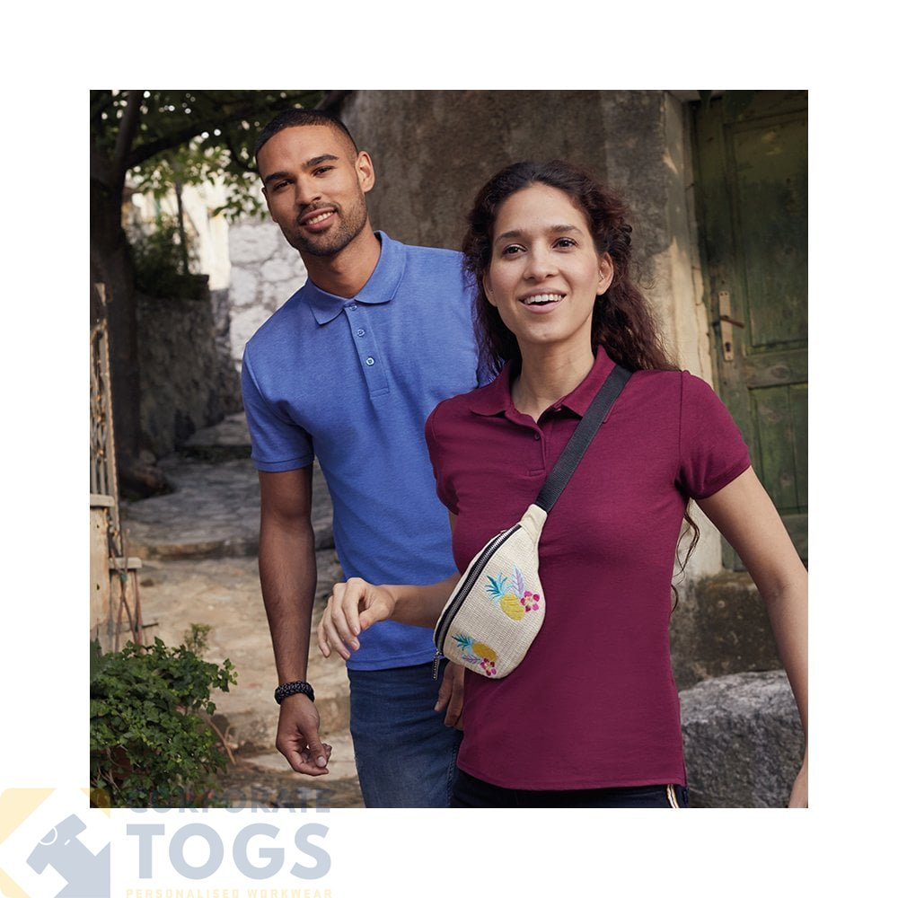 SS212 Womens Easycare Polo T-Shirt Ladies Fit Work Shirt Fruit Of The Loom