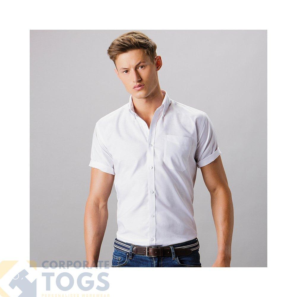 Kustom Kit Slim Fit Workwear Oxford Short Sleeved Shirt KK183 Formal Wear