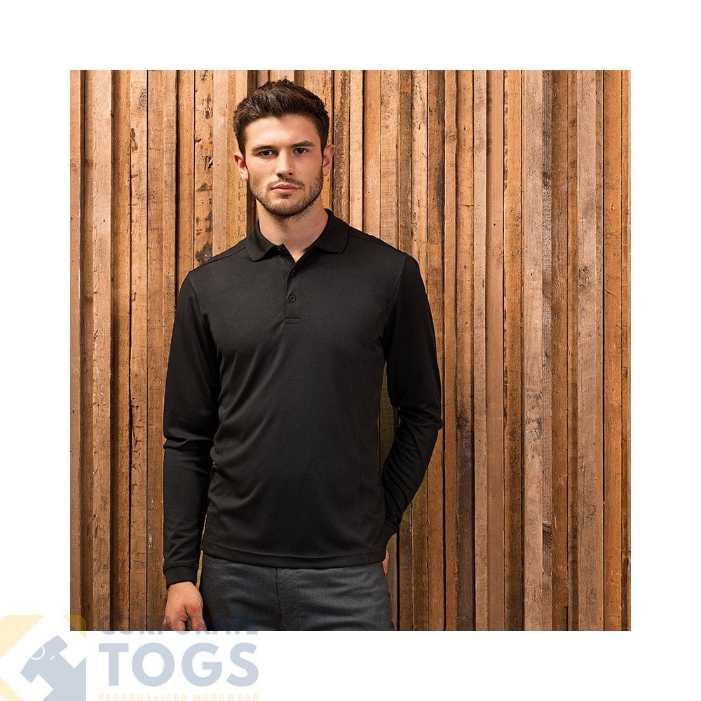 Premier Mens Coolchecker Pique Wicking Quick Dry Workwear Polo Shirt