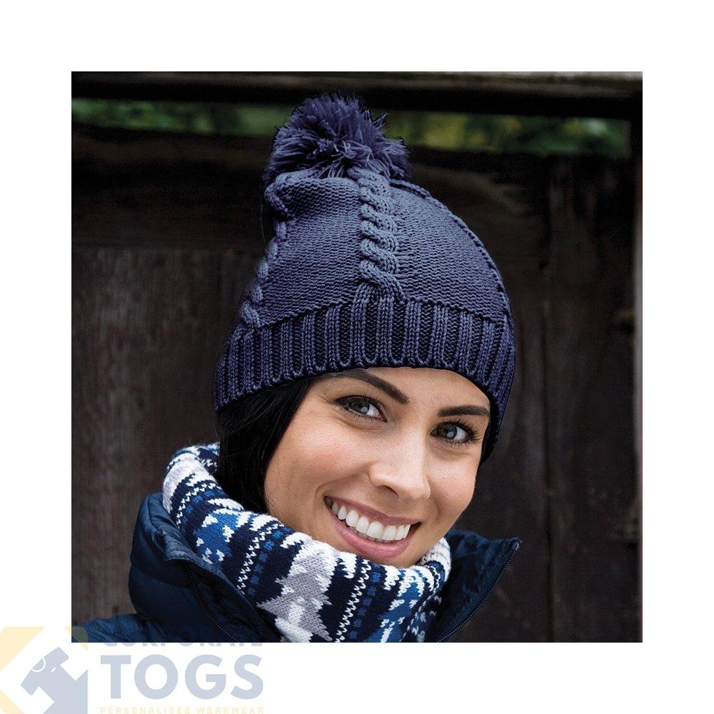 46f2d6c6 Result Winter Essentials R149x Cable Knit Pom-Pom Beanie