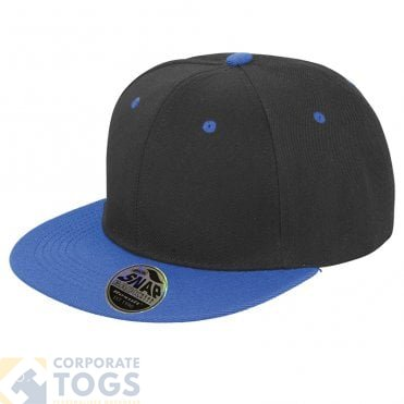 8a5930f1468 RESULT HEADWEAR RC82X BRONX ORIGINAL FLAT PEAK-SNAPBACK DUAL COLOUR CAP