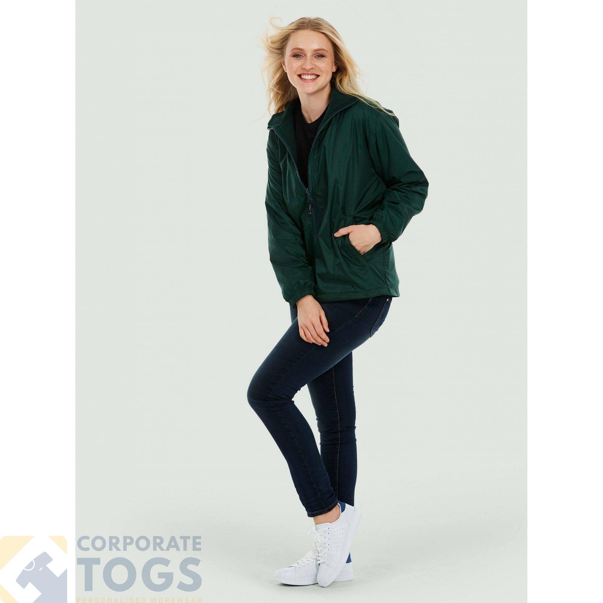 Uneek UC605 Mens Premium Reversible Fleece Jacket Rainproof Coat